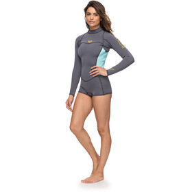 Roxy 2/2 Syncro Series Spring FLT Back Zip Long Sleeve Wetsuit Women Deep Grey/Glicer Blue